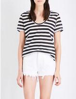 Ksubi Semi-sheer striped jersey t-shirt