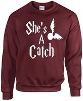 Harry Potter Couples She's A Catch Crewneck Sweater by Outlook Designs