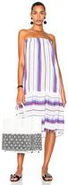 Lemlem Adia Convertible Dress in Stripes,Purple,White.