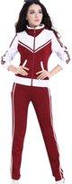 TLZC Women's Sport Contrast Color Coats and Sweat Pants 2-Piece Sets Sweatsuits US 2