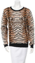 Torn By Ronny Kobo Tiger Print Long Sleeve Sweater