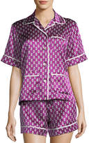 Olivia Von Halle Milllicent Billie Silk Shortie Pajama Set