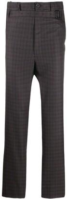 Puma Maison Yasuhiro belted check print trousers
