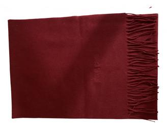 Roberto Cavalli Burgundy Wool Scarves & pocket squares