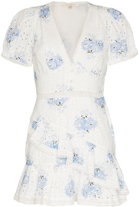 LoveShackFancy Bea ruffled broderie anglaise mini dress