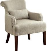 Hokku Designs Marlow Armchair Upholstery Color: Beige
