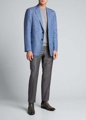 Giorgio Armani Men's Textured Wool Two-Button Jacket