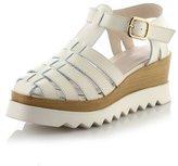 fereshte Womens Leatherette Almond Toe T-Strap Platform Ankle Buckle Fisherman Sandal US Size 8