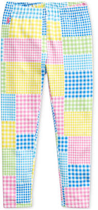 Polo Ralph Lauren Toddler Girls Mixed-Gingham Jersey Leggings