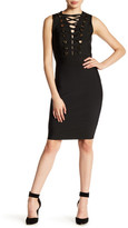 Wow Couture Criss-Cross Embellished Bodycon Dress
