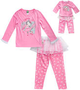 Dollie & Me Pink 'Dance With Me' Pajama Set & Doll Outfit - Toddler & Girls