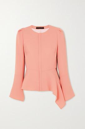Roland Mouret Noto Asymmetric Wool-crepe Jacket - Pastel pink