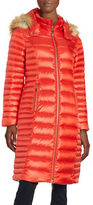 Kate Spade Faux Fur-Trimmed Down Coat