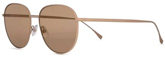 Fendi Light Brown Round Sunglasses