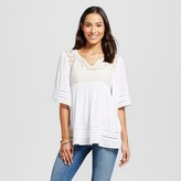 Knox Rose Women's Lace Top Cream