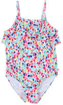 Bebe by Minihaha Lucy Print Frill Swimsuit