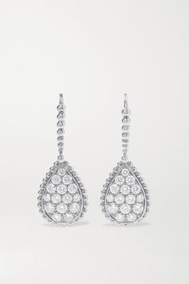 Boucheron Sleepers Serpent Boheme 18-karat White Gold Diamond Earrings