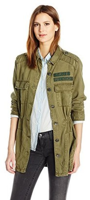 True Religion Women's Military Parka Jacket