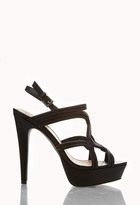 Forever 21 Cutout Faux Leather Platforms