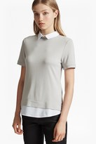 French Connection Fresh Jersey Collar Fitted Top