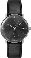 Junghans 041/4462.00 Max Bill stainless steel and leather quartz watch