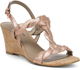 Donald J Pliner Jooli Leather Wedge Sandal