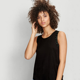 Maje Linen vest with embroidered jewels