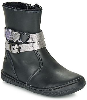 Citrouille et Compagnie LOMINE girls's Mid Boots in Black