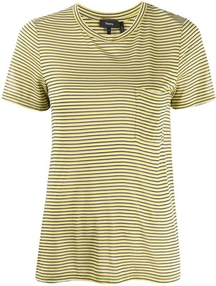 Theory striped print T-shirt