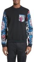 Versace Men's Mixed Media Sweatshirt