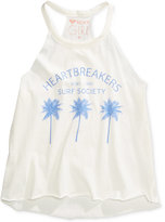 Roxy Heartbreaker Graphic-Print Cotton Tank Top, Big Girls (7-16)