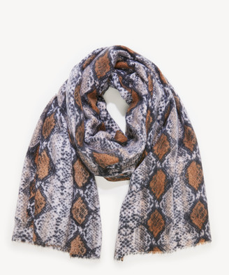 Sole Society Women's Python Blanket Scarf Cognac Multi From