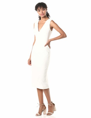 Dress the Population Women's Sandy Sleeveless Bodycon Stretch Midi Sheath Dress