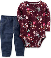 Carter's 2-Pc. Floral-Print Bodysuit and Jeans Set, Baby Girls (0-24 months)