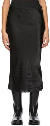 Ann Demeulemeester Black Duchesse Mid-Length Skirt