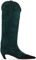 Thumbnail for your product : KHAITE 50mm Dallas Suede Tall Boots