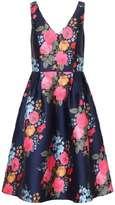 *Chi Chi London Curve Navy Floral Dress