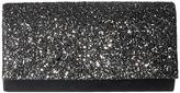 Jessica McClintock Chloe Glitter Flap Clutch Clutch Handbags