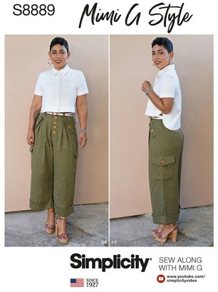 Simplicity Misses' Shirt and Wide Leg Trousers by Mimi G Style Sewing Pattern, 8889
