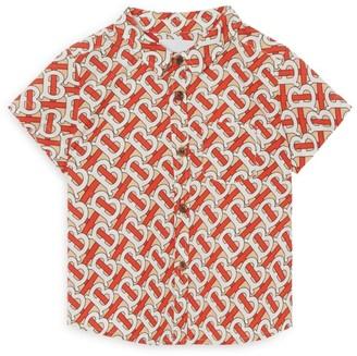 Burberry Kids Cotton Tb Monogram Shirt (6-24 Months)