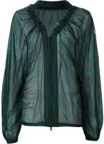 Ann Demeulemeester sheer zip blouse