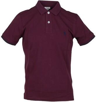 U.S. Polo Assn. Burgundy Pique Cotton Men's Polo Shirt