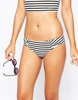 Monki Bikini Brief In Stripe