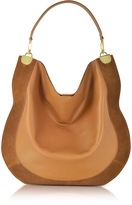 Diane von Furstenberg Moon Whisky Leather and Suede Large Hobo Bag