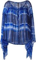 Plein Sud Jeans draped blouse - women - Silk - 42
