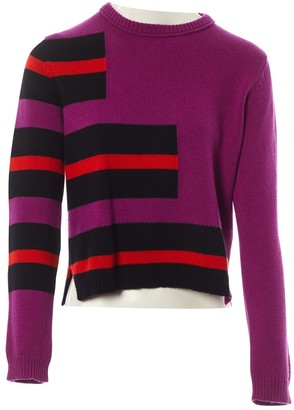 Fendi Purple Cashmere Knitwear