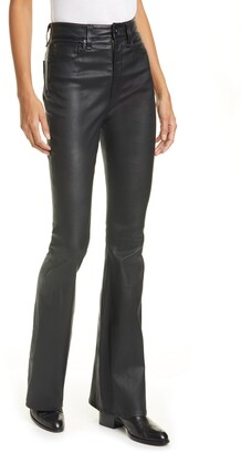 Rag & Bone Jane Super High Waist Leather Flare Pants