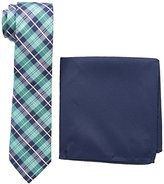 Nick Graham Men's Plaid Neck Tie with Pocket Square