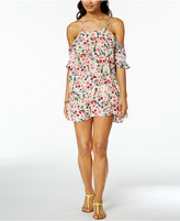 Jessica Simpson Garden Party Printed Off-The-Shoulder Cover-Up