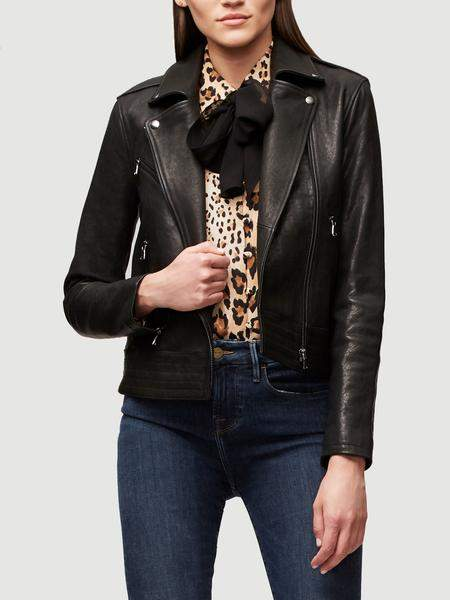Frame Slim Leather Moto Jacket